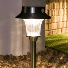 Large Solar Light by Super Solar Large Stake Lights With Pir Warm White Leds 2pack