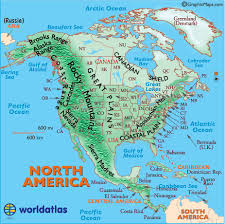 central america physical map map of usa with rivers and mountains