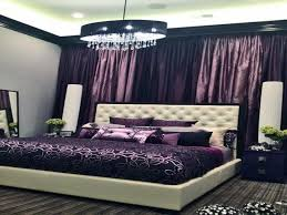 dark purple dining room white purple color queen bed on soft rug