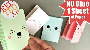 easy mini notebook from one sheet of paper no glue mini paper