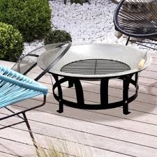 Firepit Patio Table by Indoor U0026 Outdoor Outdoor Fireplaces U0026 Fire Pits You U0027ll Love Wayfair