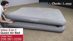 Most Comfortable Inflatable Bed Queen Size 2 In 1 Intex Air Bed Youtube