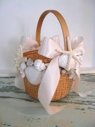 Basket For Wedding Programs Flower Basket For Beach Wedding Tiffany By Thecrystalflower