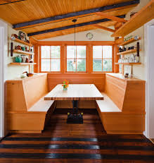 kitchen booth seating modern with custom cupboards cabinetry