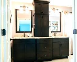 bathroom counter storage towerwhite double vanity with black