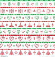 christmas pattern red green red and green on the white background nordic christmas pattern with