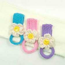 pattern crochet towel holder ravelry daisy towel holder pattern by claudia lowman
