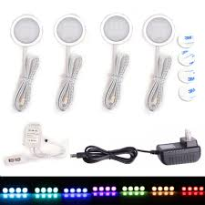Under Cabinet Led Lighting Kitchen by Under Cabinet Led Downlight Spotlights Kit 24 Key Rf Remote