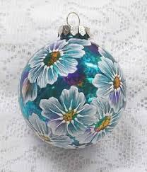 soft turquoise mud ornament with flowers and rhinestone motif