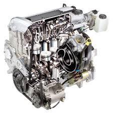 4 cylinder engine stock automotive illustration