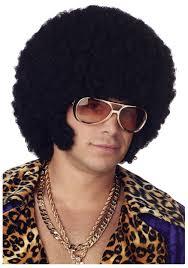 mens afro chops wig pimp costume wigs disco wigs afro chops