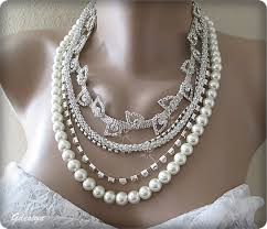 pearl necklace accessories images Bridal pearl necklace rhinestone accessories chic selections shop jpg
