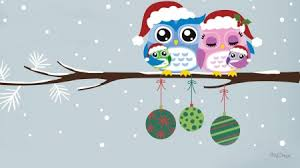 owl christmas merry christmas owl family winter wallpaper id 1882325 desktop