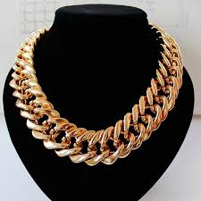 chain collar necklace images Fishsheep statement big chunky chain choker necklace for women jpg