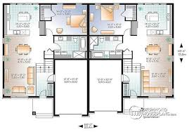 Duplex With Garage Plans Multi Family Plan W3059 Detail From Drummondhouseplans Com