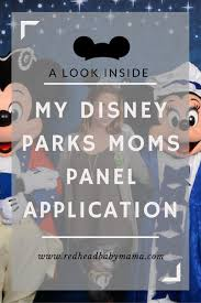 my disney parks moms panel application redhead baby mama