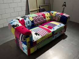 Chesterfield Patchwork Sofa by Chesterfield Sofa Cotton Velvet Silk Chesterfield Crazy