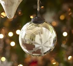 etched mercury glass ornament pottery barn