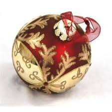 beautiful burgundy and gold ornament sets on after sale
