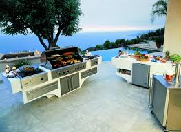 kitchen island prefab outdoor kitchens with pergola and grill