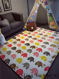 kids game mat elephant pattern baby crawling pad educational toy