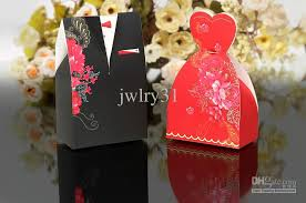 and groom favor boxes wedding favor boxes gift black and formal dress candy box