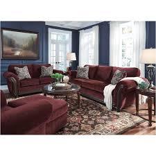 Burgundy Living Room Set Furniture Chesterbrook Burgundy Living Room Sofa