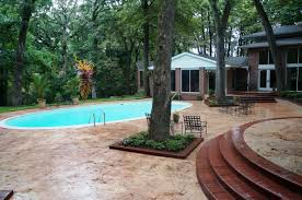 fascinating stamped concrete pool decks inspiration with grey