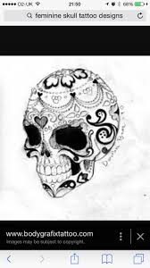 the 25 best feminine skull tattoos ideas on pinterest sugar