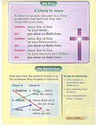 chapter handouts my catechism class
