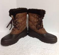 sorel womens boots canada sorel womens boots size 7 brown leather faux fur trim made in