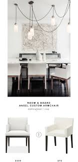 room and board custom table room board ansel custom armchair copycatchic