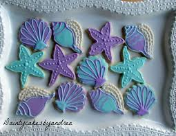 seashell shaped cookies 1 dozen the sea cookies by daintycakesbyandrea on etsy