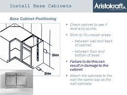 How To Install Base Cabinets With Shims Two 2 Installation Principles 1 Cabinets Need To Be Installed