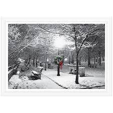 Park Bench Scene Jam Paper Blank Christmas Holiday Cards Set Park Bench Scene 25