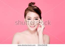 plastic hair hair asian beautiful woman stock photo 538219210