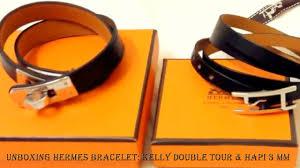bracelet hermes price images Unboxing hermes bracelet kelly double tour hapi 3 mm jpg