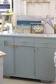 midcentury modern persian blue sideboard