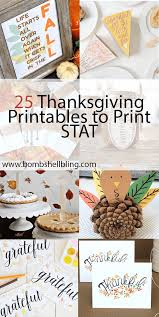 25 thanksgiving printables to print stat