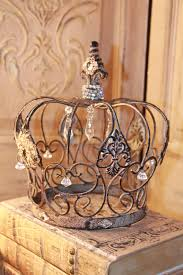 embellished metal crown rusty crown crown decor french decor