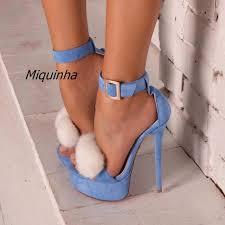 light blue womens dress shoes trendy line buckle style stiletto heel dress sandals women light