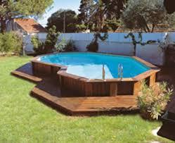 wood deck around inground pool interesting semi inground pool