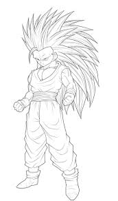 dragon ball goku super saiyan 3 coloring pages coloring page