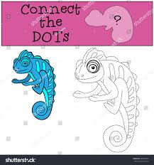educational games kids connect dots little stock vector 428636734