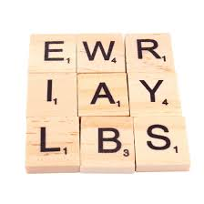 home decor 100pcs wooden alphabet scrabble tiles black letters