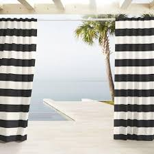 and white outdoor stripe curtains