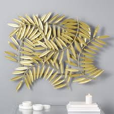 ceres gold leaves wall decor cb2