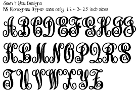 Monogramed Letters Sewn 4 You Designs Monogram Embroidery Designs