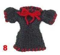 knit tiny sweater ornament crafts