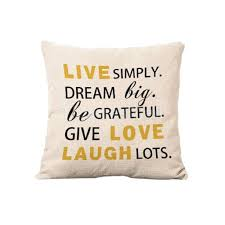 live love laugh word pillow cover cushion case linen throw room